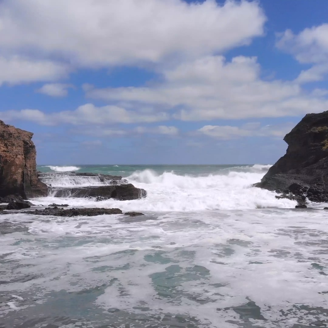 [FREE VIDEO] Sea waves, landscape, drone